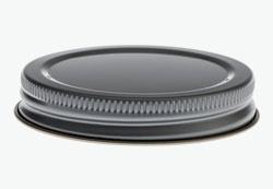 Tin plate screw cap 63mm recessed
